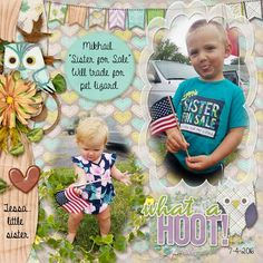 Mikhail and Tessa, July 4, 2016, at the parade. Kit used: What a Hoot by Aimee Harrison Designs Kit link: http://www.gottapixel.net/store/product.php?productid=10030310