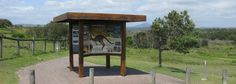 View the beautiful interpretive signs, wayfinding and directional signs installed at headlands & beaches along this Coffs Coast walking trail. Shelter Design, Directional Signs, Signage, Gazebo, Coastal, Walking, Outdoor Structures, Island, Beach
