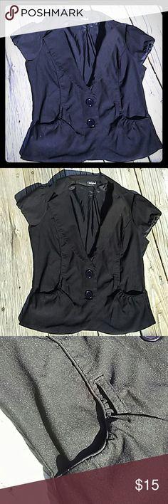 Tempted Cap Sleeve Vest Tempted Cap Sleeve Vest. Princess seams. No belt. EUC. Very high quality garment. Tops