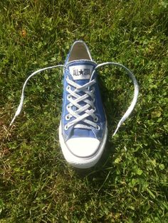 How To Double Lattice Your Converse. I did a modified version for James' shoes.