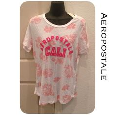 🆕Aero Top Relaxed fit, length 26 inches, 60% cotton, 40% polyester, machine was/dry. Smoke and pet free home. All product is sealed in plastic💙. I'm sorry but I don't trade or try on clothes. Bin300-20 Aeropostale Tops Tees - Short Sleeve