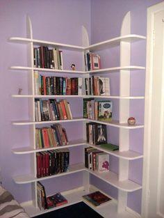 Bookcase Diy Design Beautiful some Tips to Buying Corner Bookshelves Home Design Ideas Unique Bookshelves, Corner Bookshelves, Bookshelves Built In, Bookcase Shelves, Pallet Bookshelves, Book Shelves, Diy Bookcases, Crate Bookshelf, Diy Bookshelf Plans