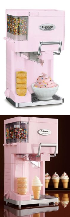 Cuisinart At-Home Soft-Serve Ice Cream Maker // yes please! #product_design #pink