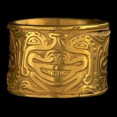 Cast Gold Bracelet  150 d.C. - 900 d.C.  Río Chiquito, Páez, Cauca