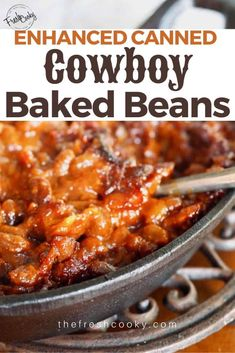 BEST EVER Cowboy Baked Beans are the perfect hearty side dish for any potluck, BBQ, Father's Day, Picnic or whenever you love beans! via day dinner recipes Best Ever Cowboy Baked Beans Summer Recipes, Healthy Dinner Recipes, Potluck Recipes, Family Recipes, Vegetarian Recipes, Cowboy Baked Beans, Cowboy Beans, Pork N Beans, Beans Beans