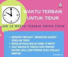 Waktu Tidur Malam Terbaik ~ Infografis Kesehatan Healthy Habits, Healthy Tips, Healthy Style, Islamic Messages, Midwifery, Fitness Motivation Quotes, Religious Quotes, Health And Beauty Tips, Health Education