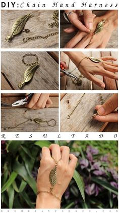 Chain hand harness... -latest post on my blog- #DIY #fashion #accessories