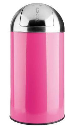 http://ift.tt/1Oz2lbi 40L  50L Mülleimer PUSH von opixeno pink Abfalleimer Papierkorb mit abnehmbarem Deckel aus Edelstahl und Inneneimer #nanytil$