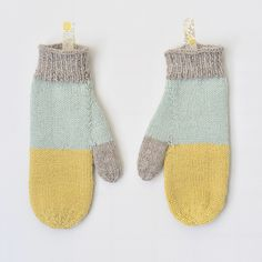 simple mittens, lovely colors