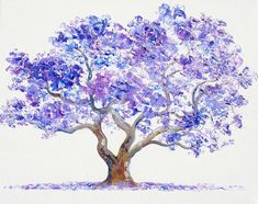 Jacaranda Tree Painting by Jan Matson