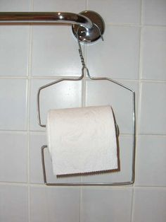 wire toilet roll hanger....This is not creative or attractive in any way.