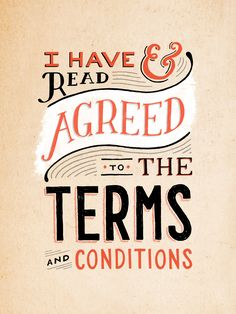 If the Terms & Conditions looked like this...I'd always read them! | by Lauren Hom