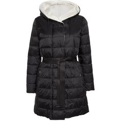Weekend MaxMara Luis Reversible Down Padded Coat , Black (9.860 CZK) ❤ liked on Polyvore featuring outerwear, coats, black, pattern coat, long sleeve coat, weekend max mara, leather-sleeve coats and reversible coats