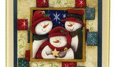 Komplettes Bastelset für diese 2 hübsche 3D Weihnachtskarten. Erstelle diese herrliche, Weihnachtskarte mit diese Komplette Bastelsets.