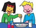 Proefjes of experimenten doen? Gratis tips, ideeën en materiaal voor een (gast)les, activiteit of kinderfeest over wetenschap en scheikunde. Thuis, op school, de opvang of open dag van een bedrijf.