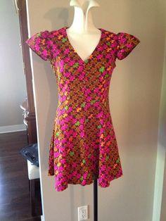 1970 Multicolored Short Dress by TripletVintage on Etsy, $15.00 Short Dresses, Summer Dresses, Vintage Accessories, Etsy, Fashion, Short Gowns, Moda, Summer Sundresses, La Mode