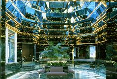 United Nations Plaza hotel - Ambassador Grill and lobby photos circa the mid-1980s; courtesy Kevin Roche John Dinkeloo and Associates.