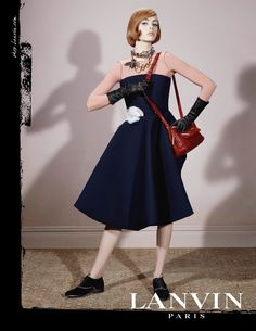 Top model Edie Campbell stuns in the new Lanvin ads shot by the legendary fashion photographer Steven Meisel. View below all 6 versions of Edie for Lanvin: Diva Fashion, 1960s Fashion, Couture Fashion, Editorial Fashion, Fashion Tape, Fashion Styles, Timeless Fashion, Edie Campbell, Steven Meisel