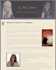 "A.L. Waddington stops by @Lauren Catron's blog to discuss writing for a living >>> ""I love sitting down with a blank screen and decorating it with the capers and humor that waltz so readily through my door."""