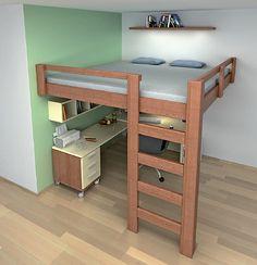 Patrová dřevěná postel 2