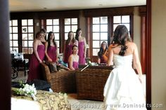The #bride showing her #wedding #gown to the #bridesmaids :)