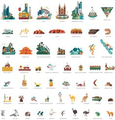 Discover Australia Illustrations by Jimmy Gleeson