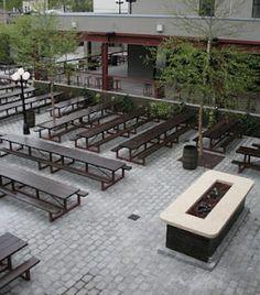 german beer garden queens - Google Search Brewery Design, Coffee Room, Outdoor Dining, Outdoor Decor, Rustic Room, German Beer, Tap Room, Backyard, Modern