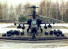 wastelandoperator:  semperannoying:  Russian KA-50   I love these aircraft combat load pictures.