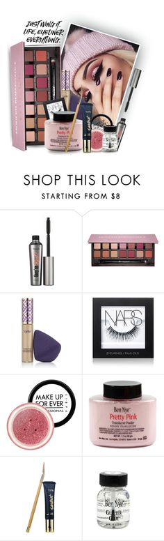 """""""Glitter Cut Crease"""" by hollowpoint-smile ❤ liked on Polyvore featuring beauty, Benefit, Anastasia Beverly Hills, tarte, NARS Cosmetics, MAKE UP FOR EVER and modern"""