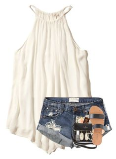 """""""you're a mansion with a view"""" by elizabethannee ❤ liked on Polyvore featuring Hollister Co., Abercrombie & Fitch, Kate Spade, Casetify, Urban Decay, J.Crew, Essie, Huda Beauty, Kendra Scott and Shashi"""