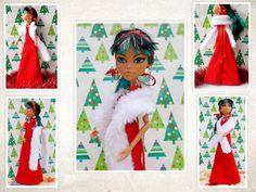 Handmade For Monster High Custom Doll Dress by CuteWeirdFluffy
