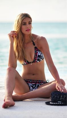 Banana Moon Victoriane Bikini - Buy this gorgeous indigo floral Bikini at Coco Bay