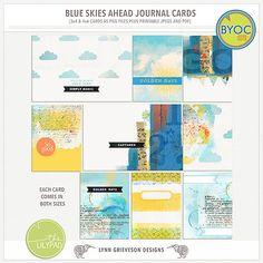 Blue Skies Journal Cards
