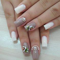 Mis uñas Stylish Nails, Trendy Nails, Beautiful Nail Art, Gorgeous Nails, Great Nails, Fun Nails, Pretty Nail Designs, Nail Art Designs, Black And White Nail Art