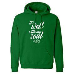 7366d334289b7d Hoodie It is Well with My Soul Unisex Adult Hoodie. Indica Plateau. Hooded  SweatshirtsTank ...
