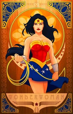 Art Nouveau Wonder Woman