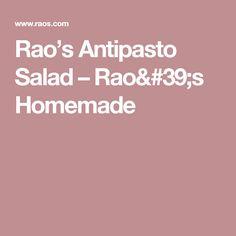 Rao's Antipasto Salad – Rao's Homemade