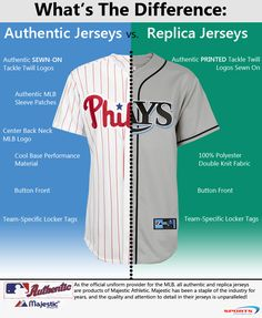 Looking for a new MLB jersey but not sure the difference between authentic and replicas? Check out this blog article.