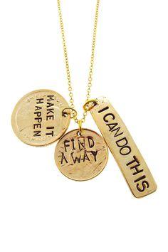 "Alisa Michelle | ""Make It Happen"" Charm Necklace | Nordstrom Rack"