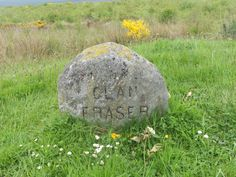 The marker for Clan Fraser at Culloden.