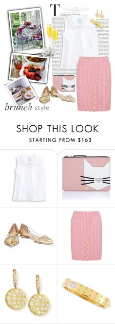 """""""Sunday Brunch"""" by kateo ❤ liked on Polyvore featuring Karl Lagerfeld, Nicholas Kirkwood, Moschino, Rahaminov, Roberto Coin, Theory, brunch and 5557"""