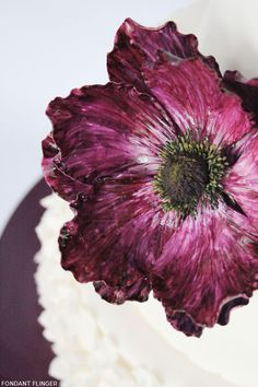 Purple Anemone Cake | Half Baked - The Cake Blog