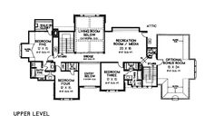 Floor Plan Of European French Country Tudor Victorian House Plan 66026