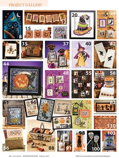Just Cross Stitch for Halloween is a great resource for spooky and fun Halloween Designs to create. Get all the treats you want without any tricks. All things Halloween including owls, pumpkins, skulls, witches and everything in between.
