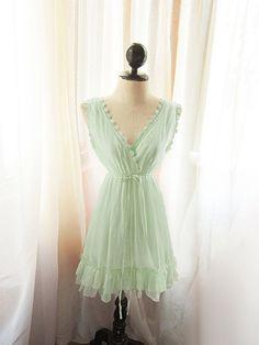 Green Mint Seafoam Dress