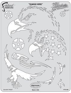 artool freehand airbrush templates patriotica eagle one Skull Stencil, Tattoo Stencils, Stencil Painting, Stenciling, Free Stencils, Stencil Templates, Stencil Patterns, Airbrush Tattoo, Airbrush Art