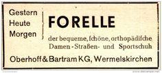 Original-Werbung/ Anzeige 1948 -  FORELLE SCHUHE / OBERHOFF & BARTRAM KG - WERMELSKIRCHEN - ca. 80 x 35 mm