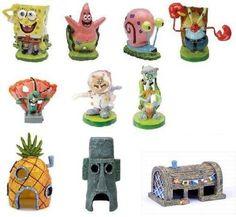 SpongeBob SquarePants Aquarium Decorations Set (10pc)