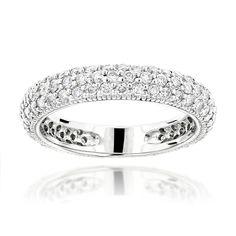 1 Carat Diamond Wedding Band for Women in 14K Gold