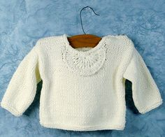 Free Knitting Pattern - Baby Sweaters: Athos - Baby Simple Pullover
